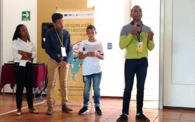 Niñas, niños y adolescentes se reúnen en Encuentro Regional para exigir que sus derechos sean garantizados
